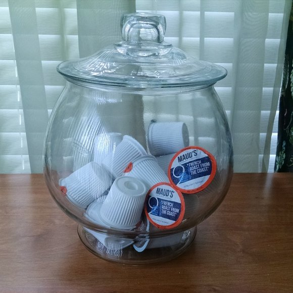 Vintage  Apothecary/Canister Glass Jar with Lid